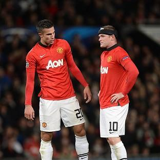 Wayne Rooney, right, and Robin van Persie will be missing against Chelsea