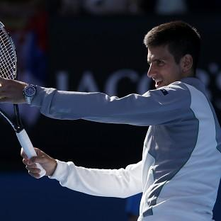 Novak Djokovic, pictured, routed Fabio Fognini to reach
