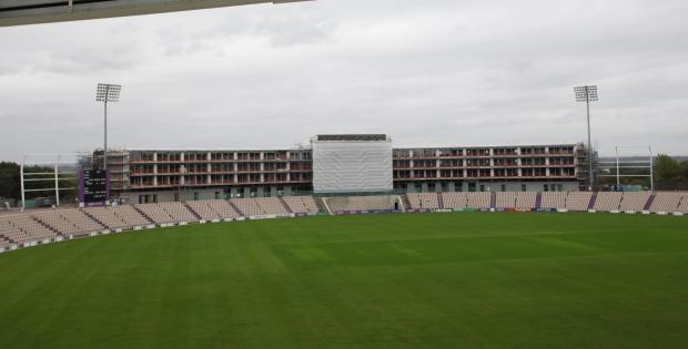 Hampshire Chronicle: WORK STOPPED: On the luxury hotel at the Ageas Bowl