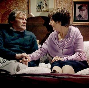 Hampshire Chronicle: Hayley and Roy Cropper, played by Julie Hesmondhalgh and David Neilson, during a scene in which the characters discuss her right to die (ITV/PA)