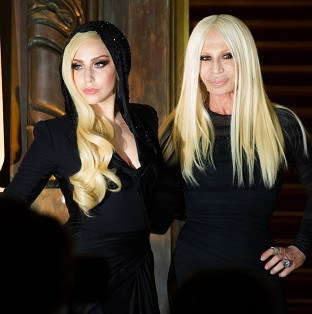 Lady Gaga and Donatella Versace a