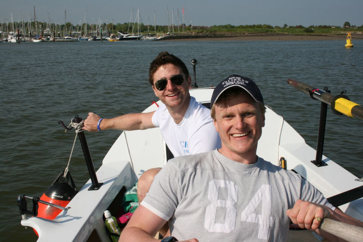 All aboard! Will at the front, Dan at the back on their long haul trip. Credit: www.jellyfish.co.uk/atlanticrow2013/‎