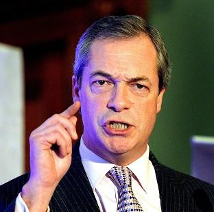 Hampshire Chronicle: Nigel Farage said the UK does not have the money to press ahead with HS2