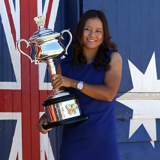 China's Li Na poses with her Australian Open trophy (AP)