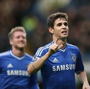 Hampshire Chronicle: Oscar, right, scored the only goal of the game as Chelsea booked their place in the FA Cup fifth round