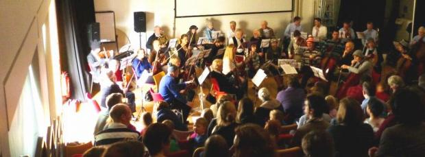 Winchester Chamber Orchestra Children's Concert went ahead as planned despite the Discovery Centre suffering a power cut moments before the show