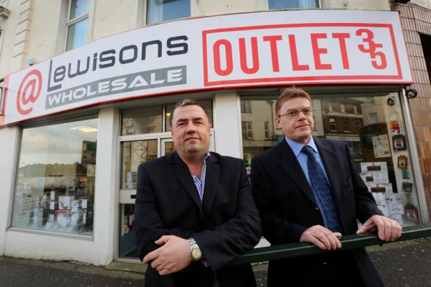 Lewisons Electrical Retail CEO Clive Coombes, left, with operations director Graham Groves.