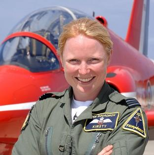 Hampshire Chronicle: Flight Lieutenant Kirsty Stewart, who became the first female pilot to join the Red Arrows, is to wed, according to reports (Royal Air/PA)