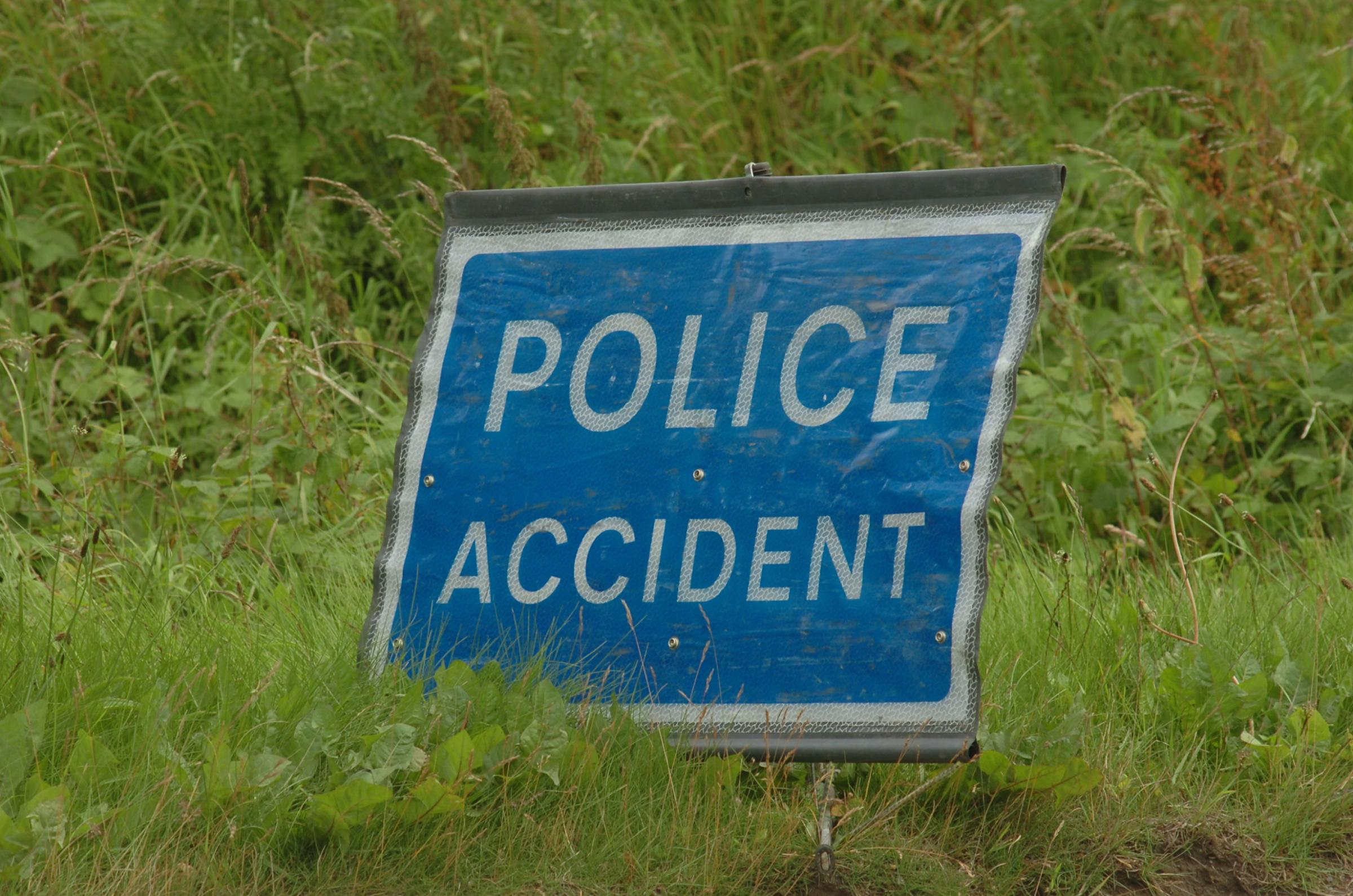 Delays after crash on major road
