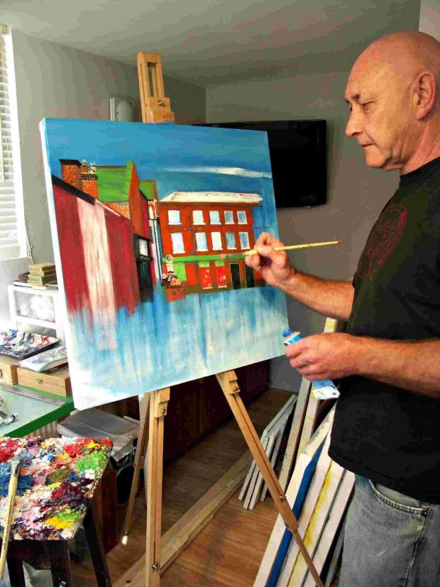 Hampshire Chronicle: John Pothecary, 60, from Stanmore, has been painting all of his life