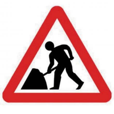 Roadworks on A303 north of Winchester
