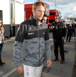 Jenson Button topped the timesheet on day two