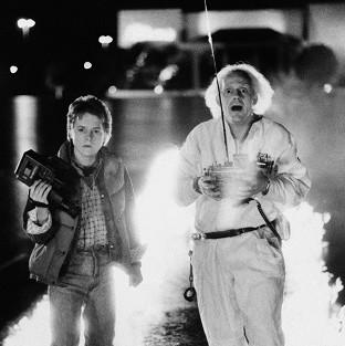 Hampshire Chronicle: Michael J Fox and Christopher Lloyd starred in sci-fi hit Back to the Future (AP)