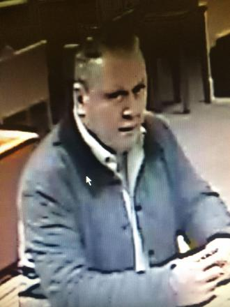 Officers want to speak to this man after a driving licence and debit card were stolen.