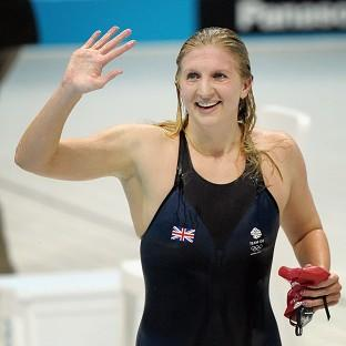 Olympic medal-winning swimmers Becky Adlington and Michael Jamieson battled their way to a Guinness World Recor