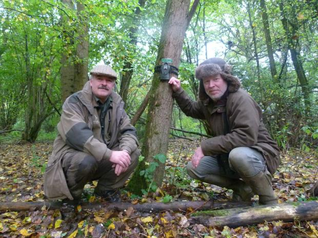 Hampshire Chronicle: Caring deerly for the environment: Charles Smith-Jones, left, and Professor Jaimie Dick.