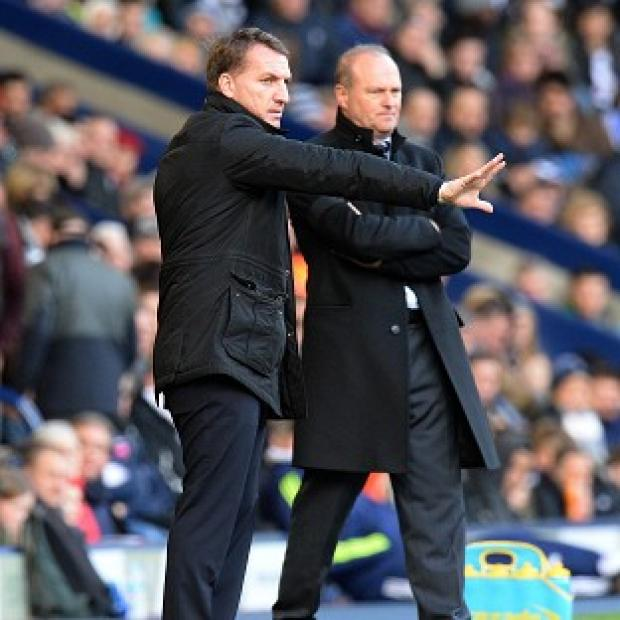 Hampshire Chronicle: Brendan Rodgers, left, was philosophical as Liverpool were held to a draw at The Hawthorns
