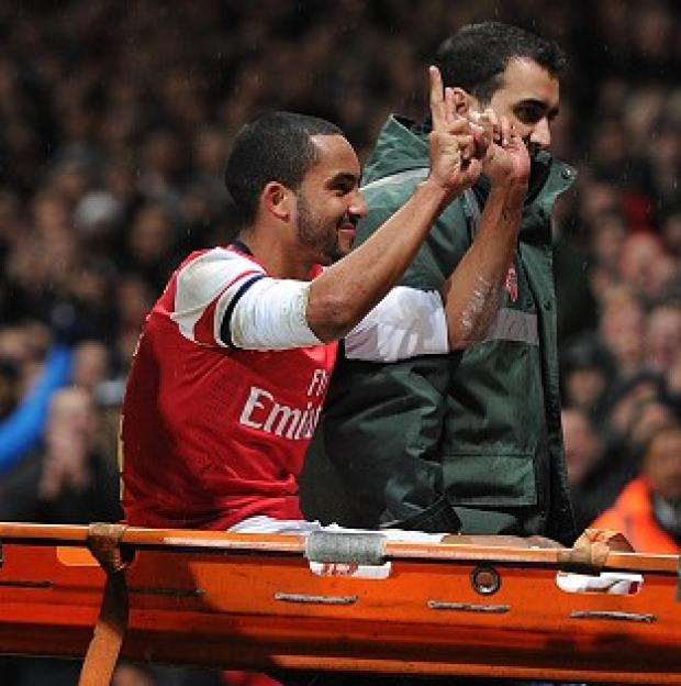 Hampshire Chronicle: Theo Walcott was pelted by missiles coming from the Tottenham fans