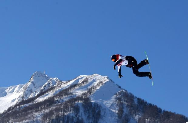 Billy Morgan practising in Sochi today.