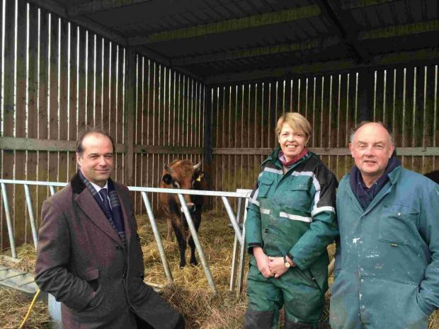 MP George Hollingbery praised Woodlands Jersey Beef's contribution to the rural economy