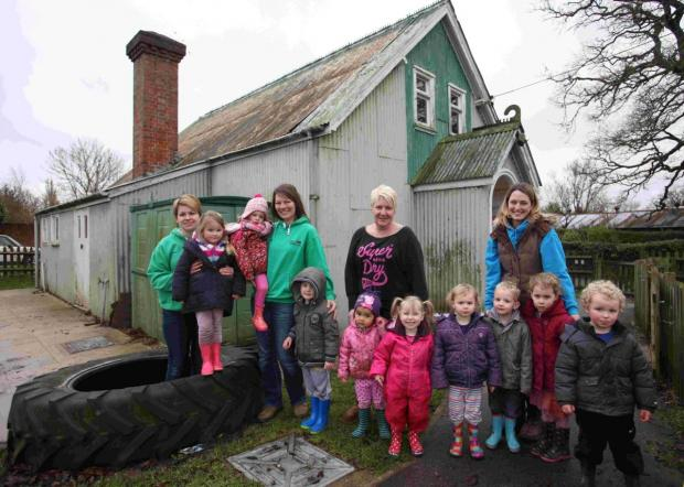 Hampshire Chronicle: Durley Ladybirds Preschoolers are working to raise funds to update their tin hall