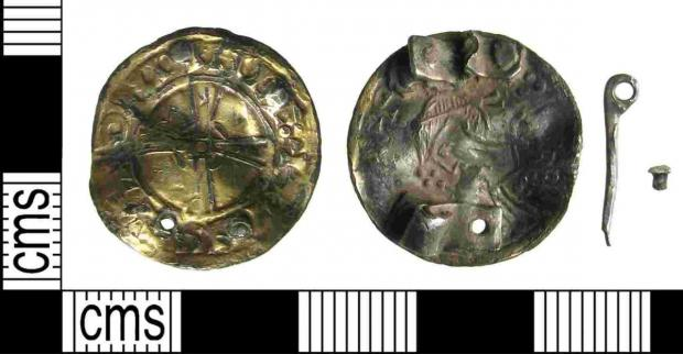 The nummular brooch was found in Nether Wallop by Stuart Gawler in April last year containing a penny featuring Edward the Confessor.