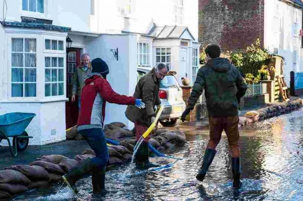 Forty days of flooding for Hampshire village