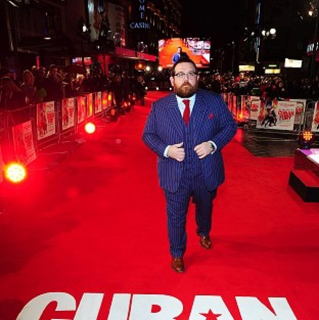 Hampshire Chronicle: Nick Frost was at Leicester Square in London for the world premiere of dance comedy Cuban Fury