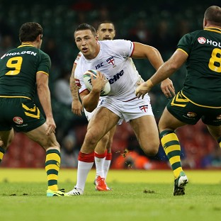 Sam Burgess, centre, has been linked with a move to Aviva Premiership side Bath