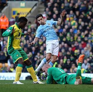 Manchester City were unable to find a way past Norwich goalkeeper John Ruddy