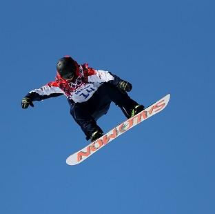Jamie Nicholls finished sixth in the Snowboard Slopestyle final