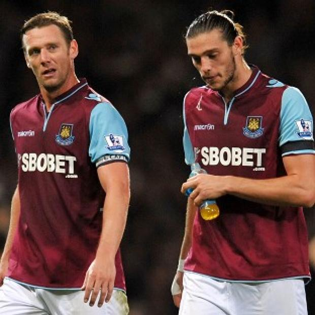 Hampshire Chronicle: Kevin Nolan, left, believes Andy Carroll's suspension is an injustice
