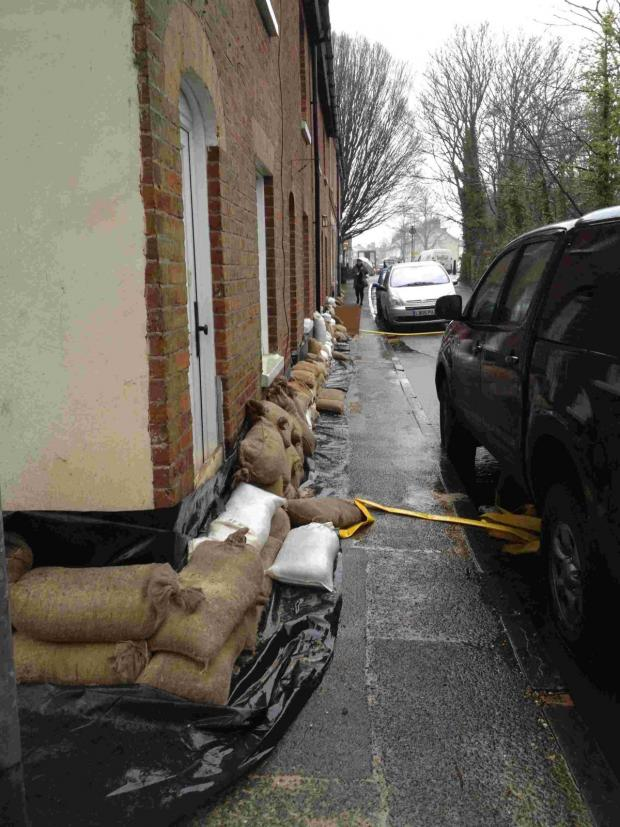 Hampshire Chronicle: Prepared: Water Lane this morning