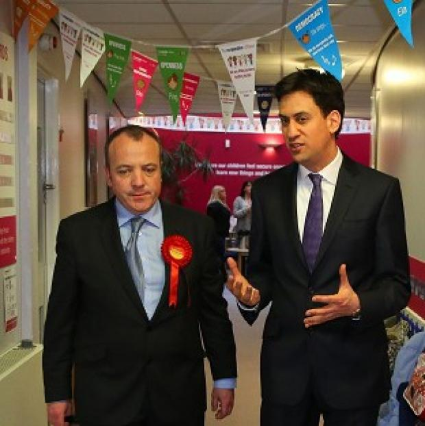 Hampshire Chronicle: Labour Leader Ed Miliband helped new Wythenshawe and Sale East MP Michael Kane campaign