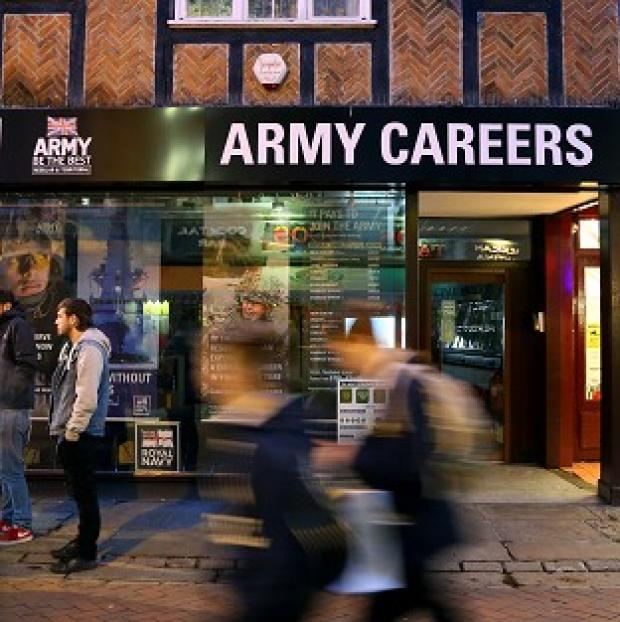 Hampshire Chronicle: The Army Careers office in Canterbury, Kent, one of the armed forces recruitment offices where suspected explosive devices have been found