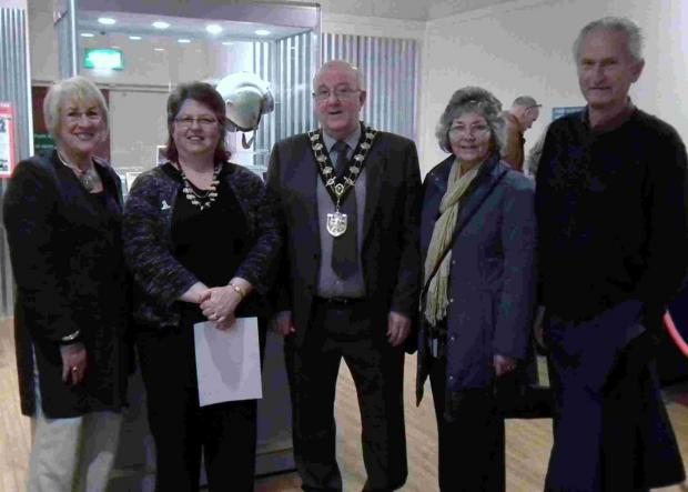 Jacqui Rowley (One Community Trustee), Jean-Roberts-Jones (One Community Chief Executive), Mayor of Eastleigh Councillor Malcolm Cross, the Lady Mayoress Sue Cross, and Dennis Rowley
