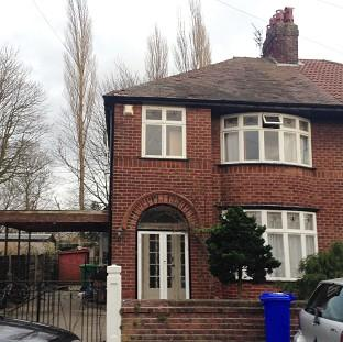 Hampshire Chronicle: A house linked to student Abu Layth in Didsbury, Manchester, which was searched by police