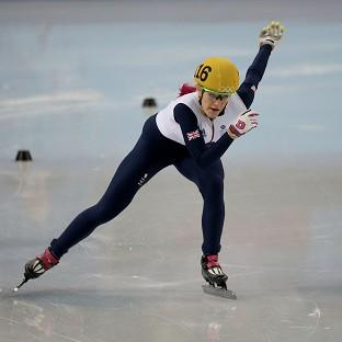 Great Britain's Elise Christie was disqualified in her heat of the women's 1500m short track