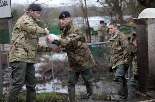 Military intervention stemmed the tide of flooding in Romsey