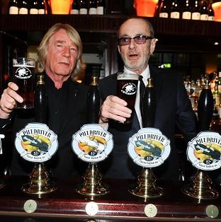 Rick Parfitt and Francis Rossi of Status Quo with their new beer Piledriver