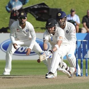 Brendon McCullum continues to frustrate India (AP)