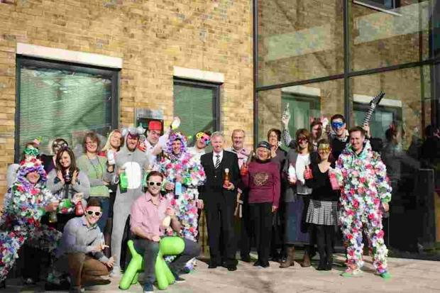Hampshire Chronicle: Ecover staff outsixde their new office at 2200 Renaissance on Basing View