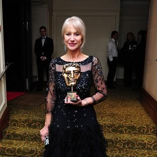 Dame Helen Mirren said she was left almost speechless by her Bafta Fellowship, but not quite
