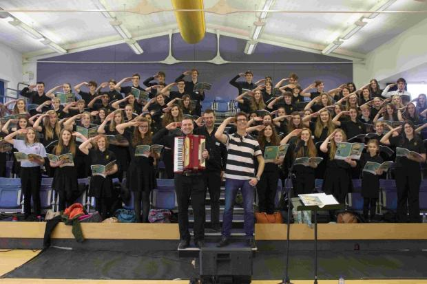 Students were preparing for a specialist concert at Thornden Hall