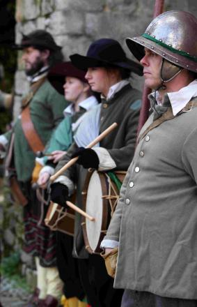 Members of the Sealed Knot came together outside the Westgate with displays of musket and pike drills every half hour