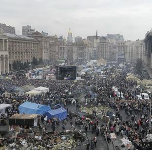Hampshire Chronicle: Kiev's Independence Square has been the epicentre of Ukraine's recent unrest (AP)