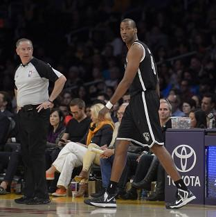 Jason Collins takes to the court (AP)