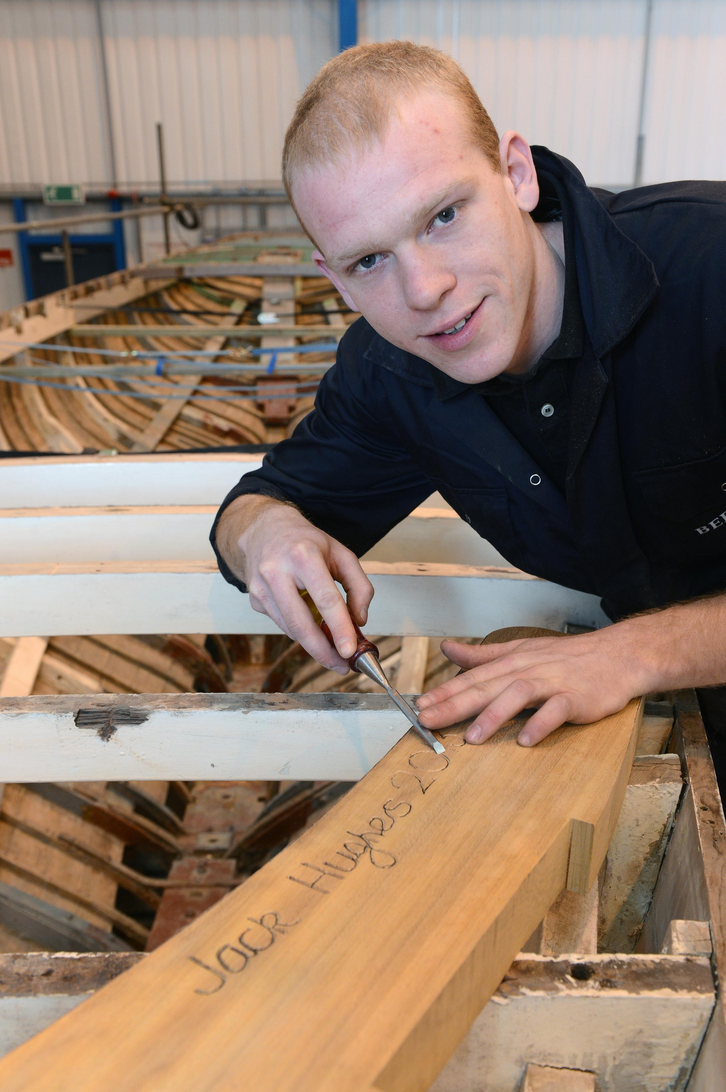 Jack Hughes, one of 60 apprentices brought into the marine industry by a programme led by Berthon