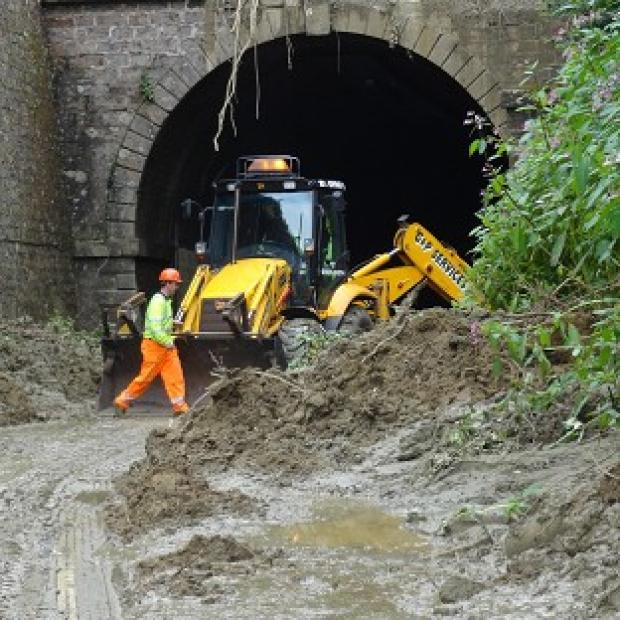 Hampshire Chronicle: The Beaminster Tunnel was the scene of the fatal mudslide.