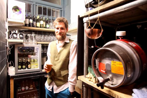 Hampshire Chronicle: Anthony Nicholls in the Butcher's Hook in Bitterne Park Triangle